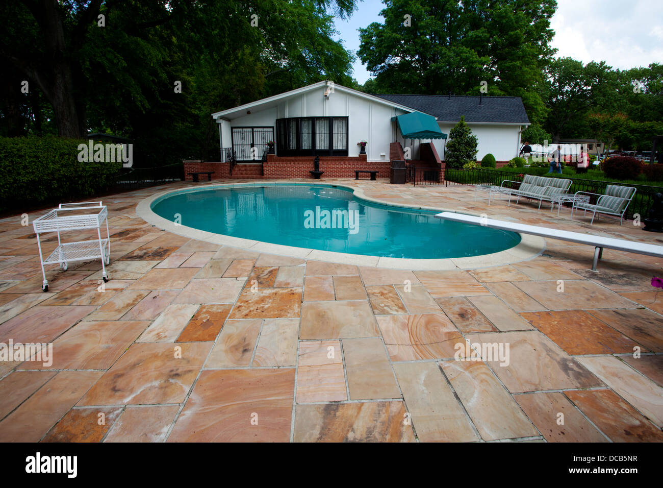 The Swimming Pool At Graceland The Home Of Elvis Presley In Memphis Stock Photo Royalty Free