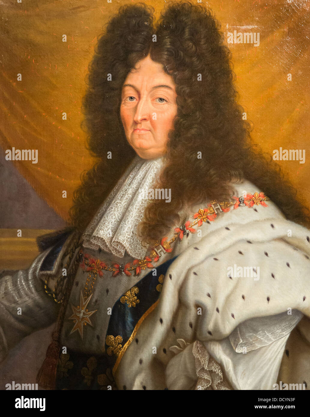 18th century louis xiv king of france andry after hyacinthe stock photo royalty free image. Black Bedroom Furniture Sets. Home Design Ideas