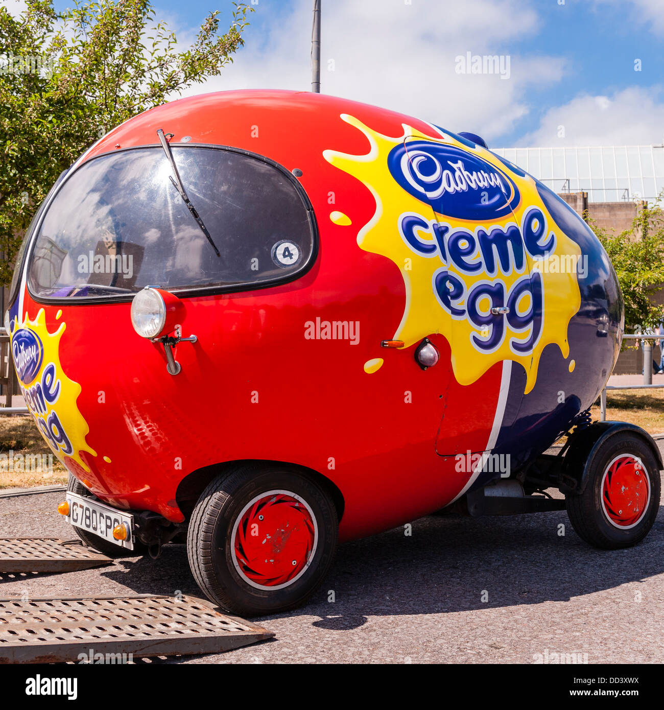 The Cadbury Creme Egg Car At The National Motor Museum At