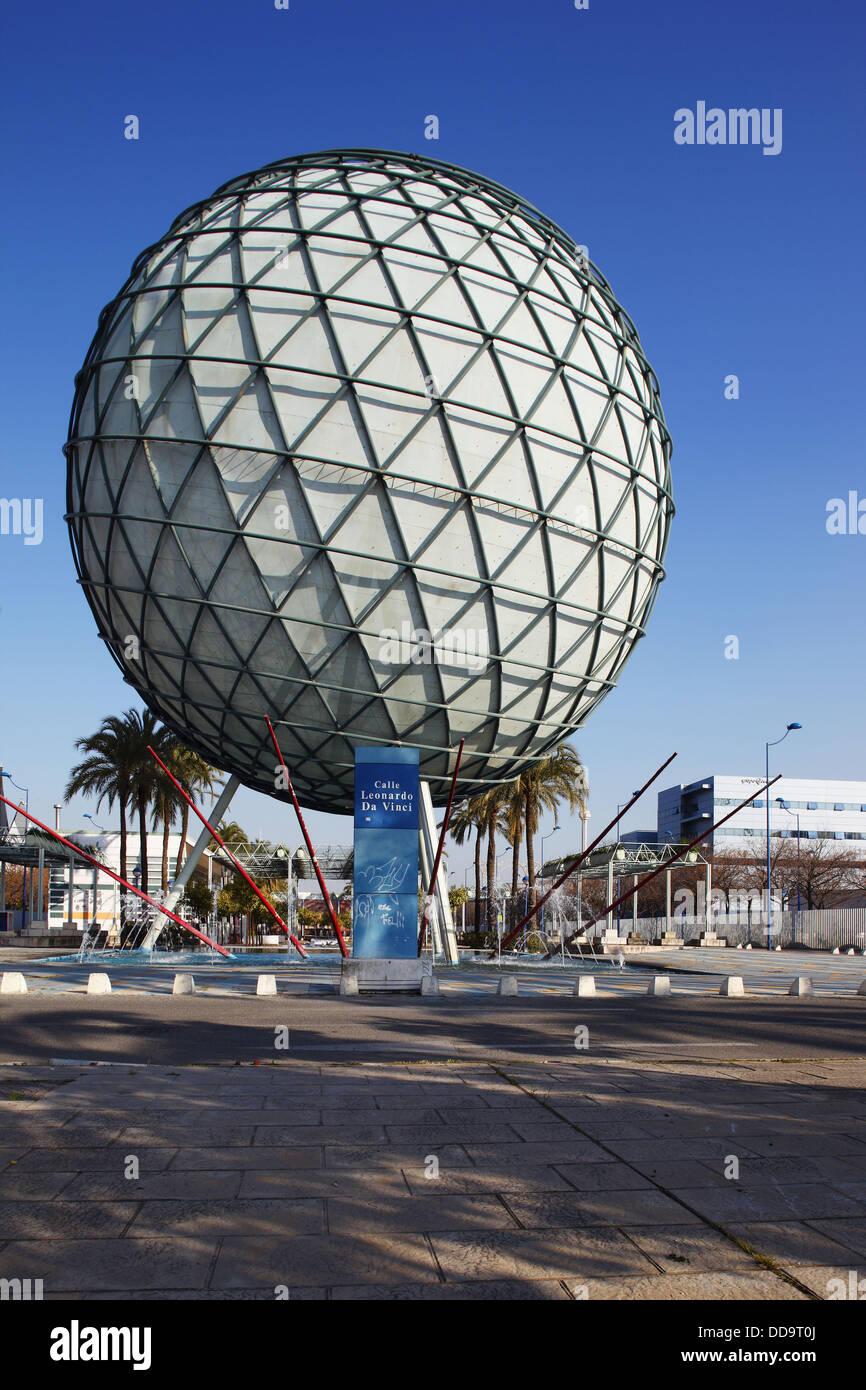 Esfera bioclim tica en la isla de la cartuja expo 92 - Isla de la cartuja ...