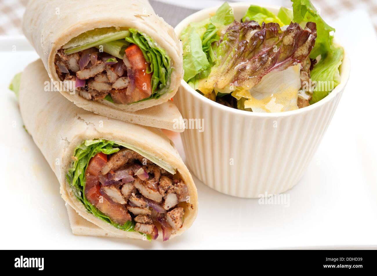 kafta shawarma chicken pita wrap roll sandwich traditional