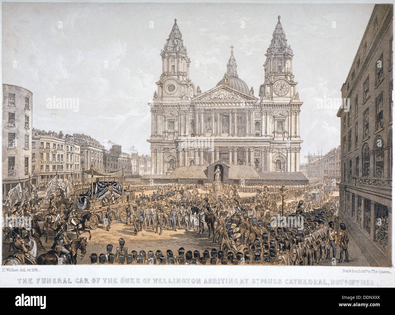 Funeral of the Duke of Wellington, St Paul's Cathedral, City of London, 18 November, 1852. Artist: Day & Son Stock Foto