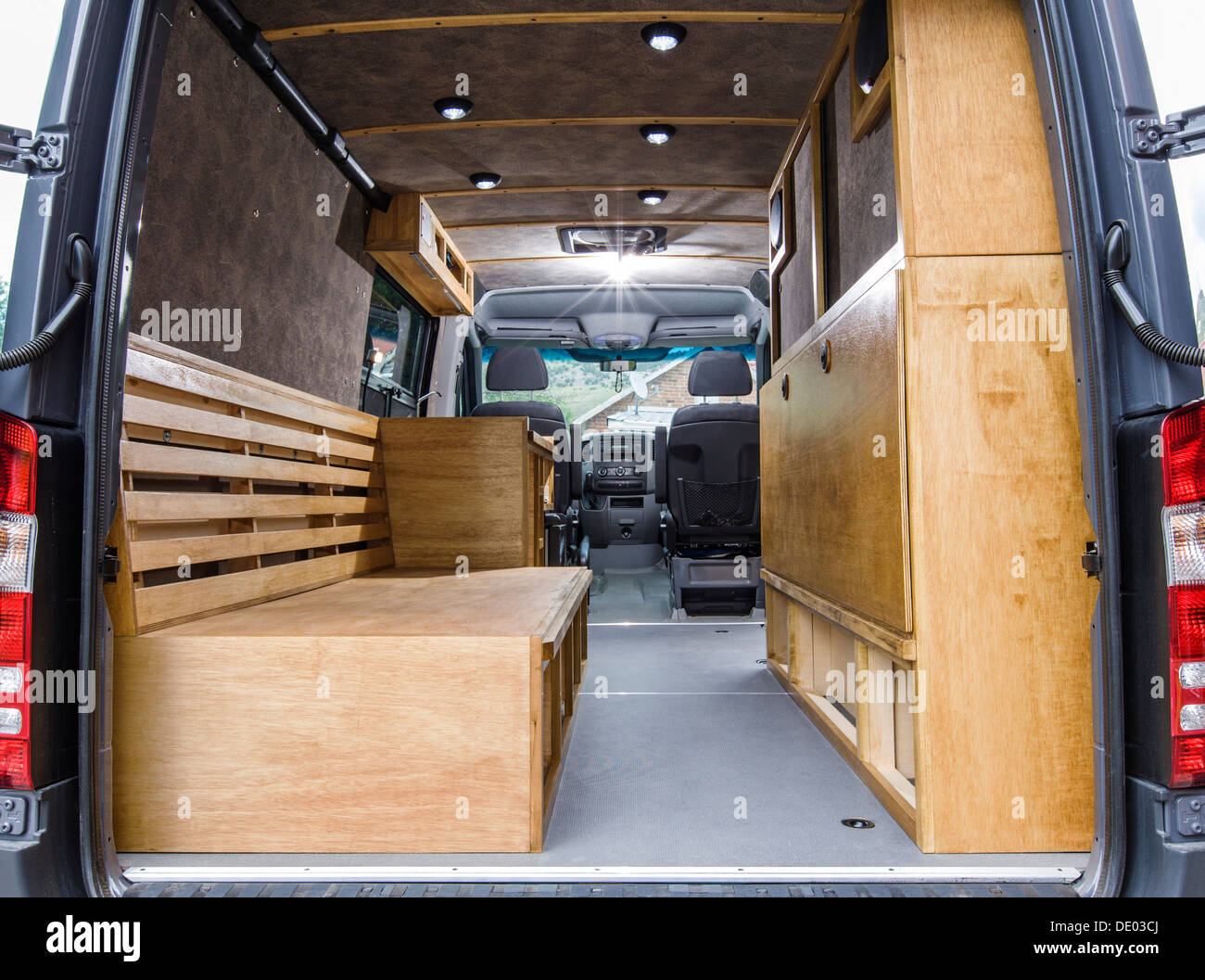 how to turn a cargo van into a camper