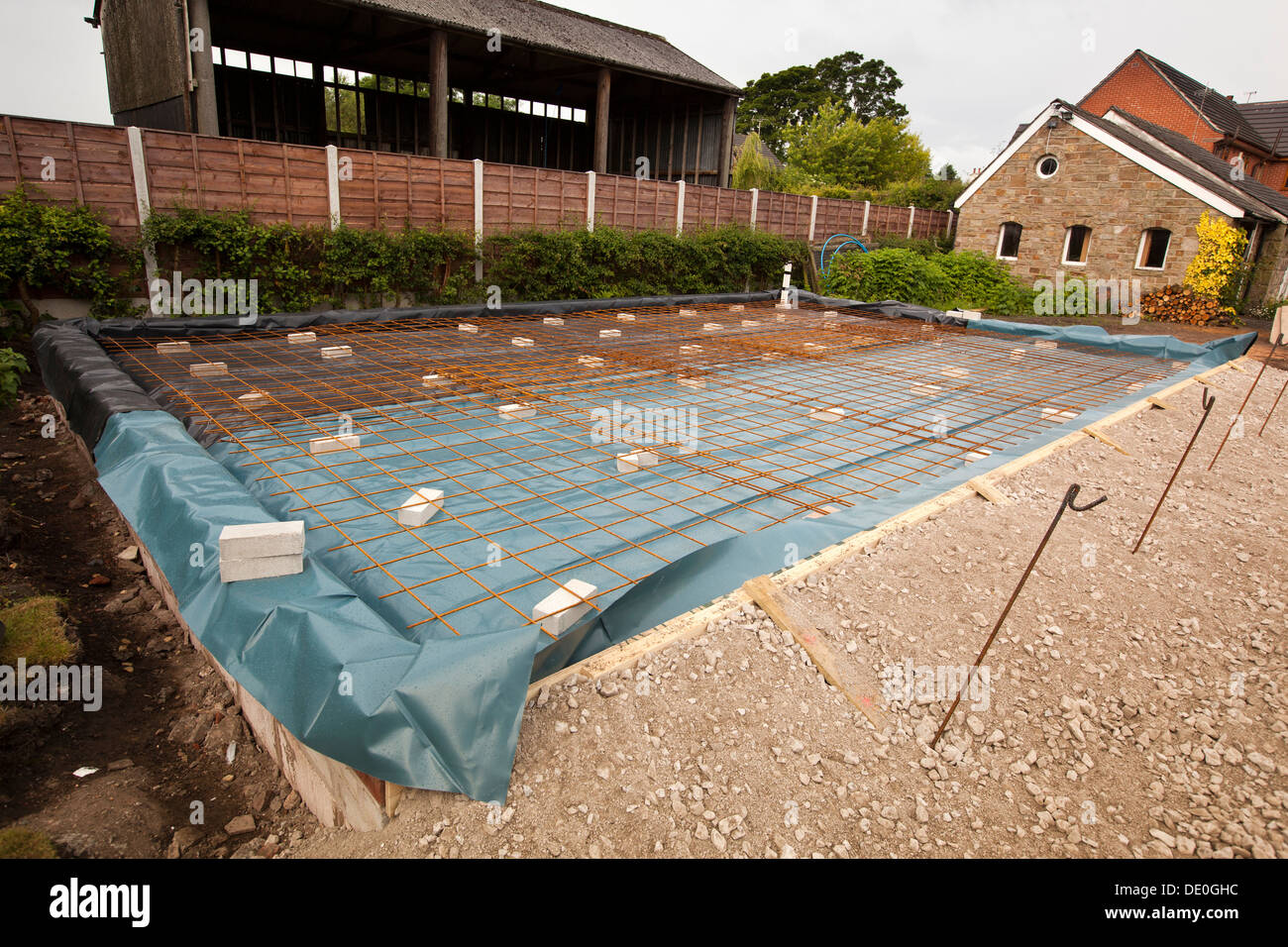 Self Building House Preparing Site Steel Mesh Reinforced