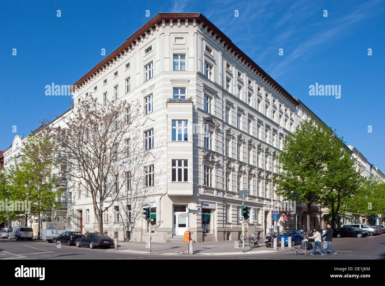 berlin germany residential housing in winsviertel in prenzlauer stock photo royalty free. Black Bedroom Furniture Sets. Home Design Ideas