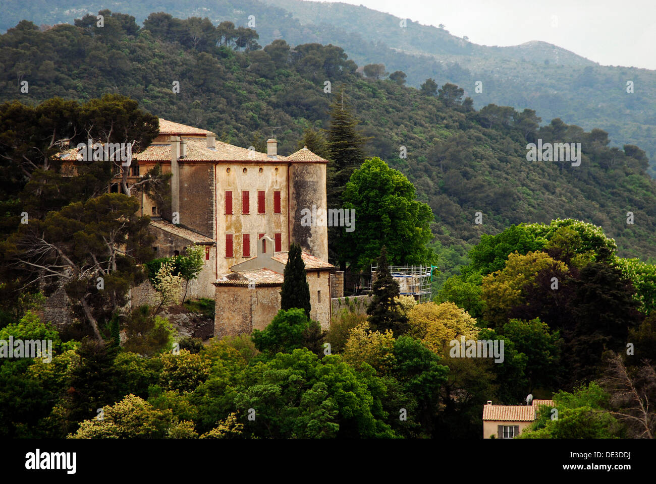 home and final resting place of pablo picasso provence france stock photo royalty free image. Black Bedroom Furniture Sets. Home Design Ideas