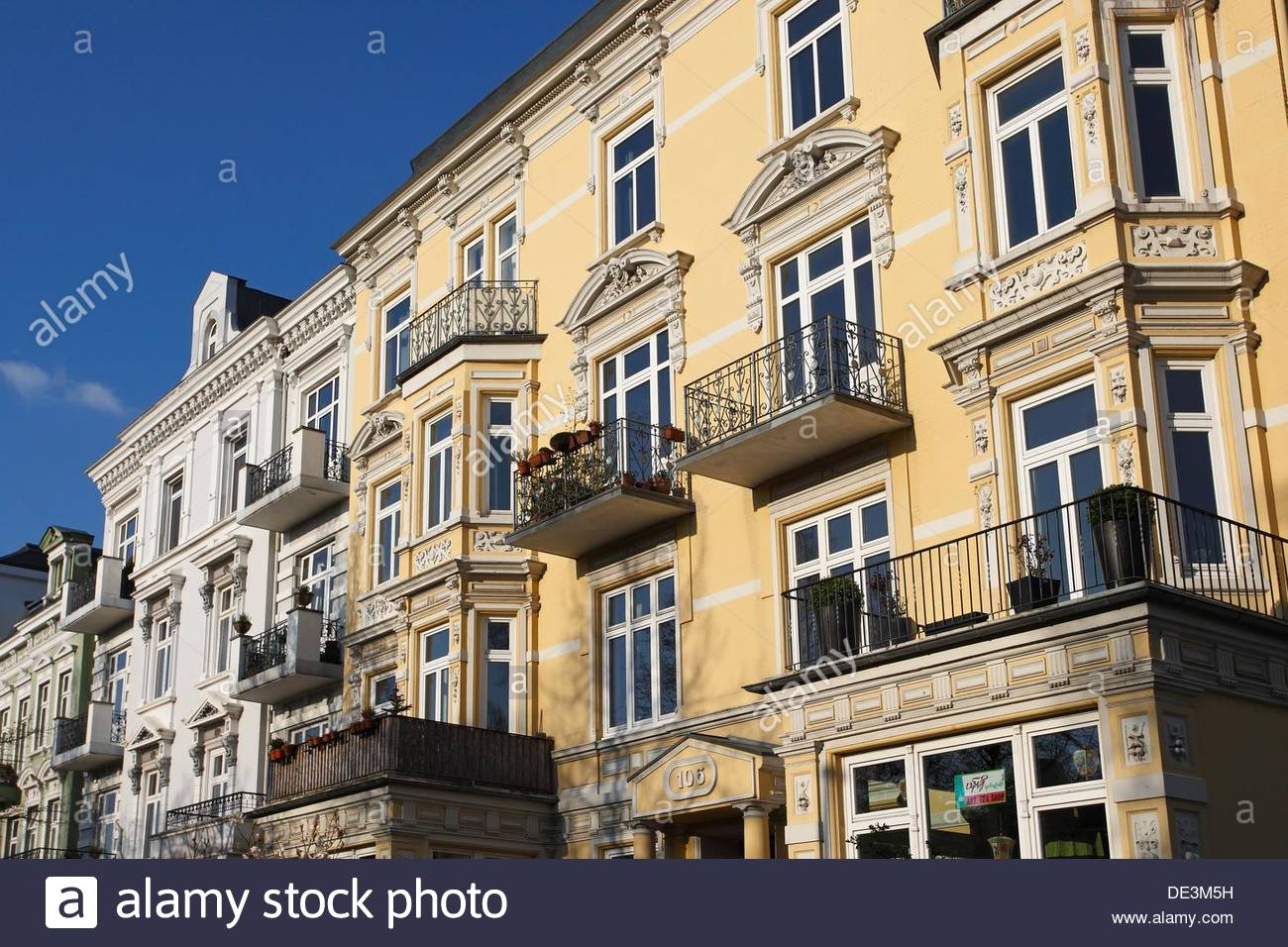 old houses in eppendorf hamburg germany stock photo 60317981 alamy. Black Bedroom Furniture Sets. Home Design Ideas