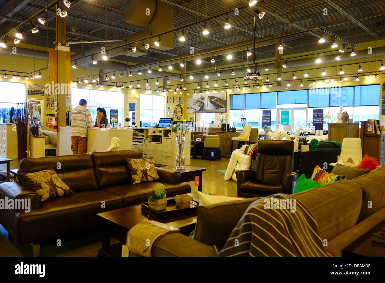 Urban Barn Furniture Store In Richmond Hill Canada Stock