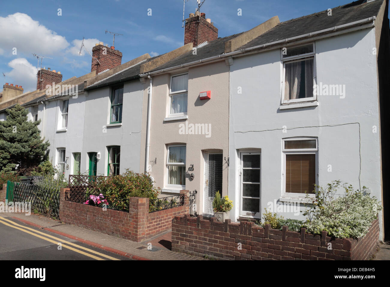 small victorian terraced houses on black griffin lane