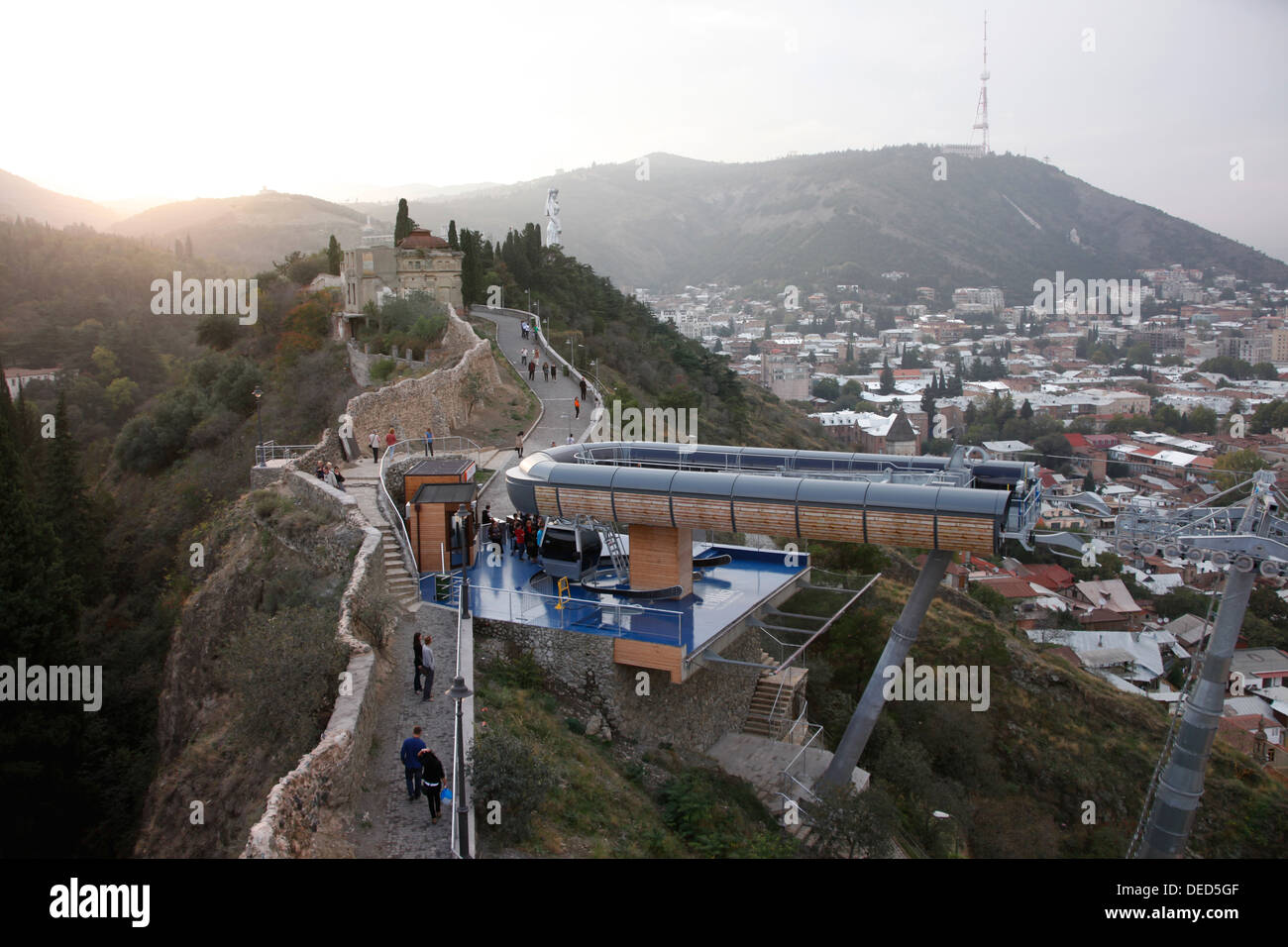 Live Videos Cars Tbilisi Georgia: Tbilisi, Georgia, Cable Car Between The Rike Park And The