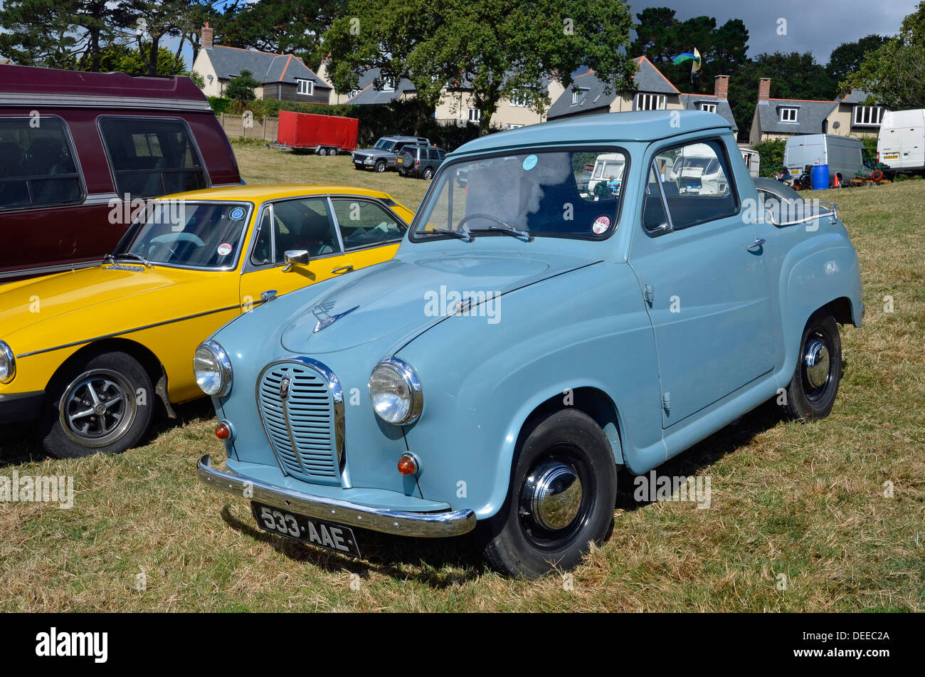 Austin A35 pick-up truck - a classic small British vehicle of the Stock Photo: 60553090 - Alamy