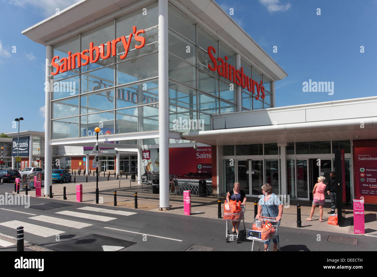 shoppers at sainsbury 39 s store in burnley stock photo royalty free image 60553713 alamy. Black Bedroom Furniture Sets. Home Design Ideas