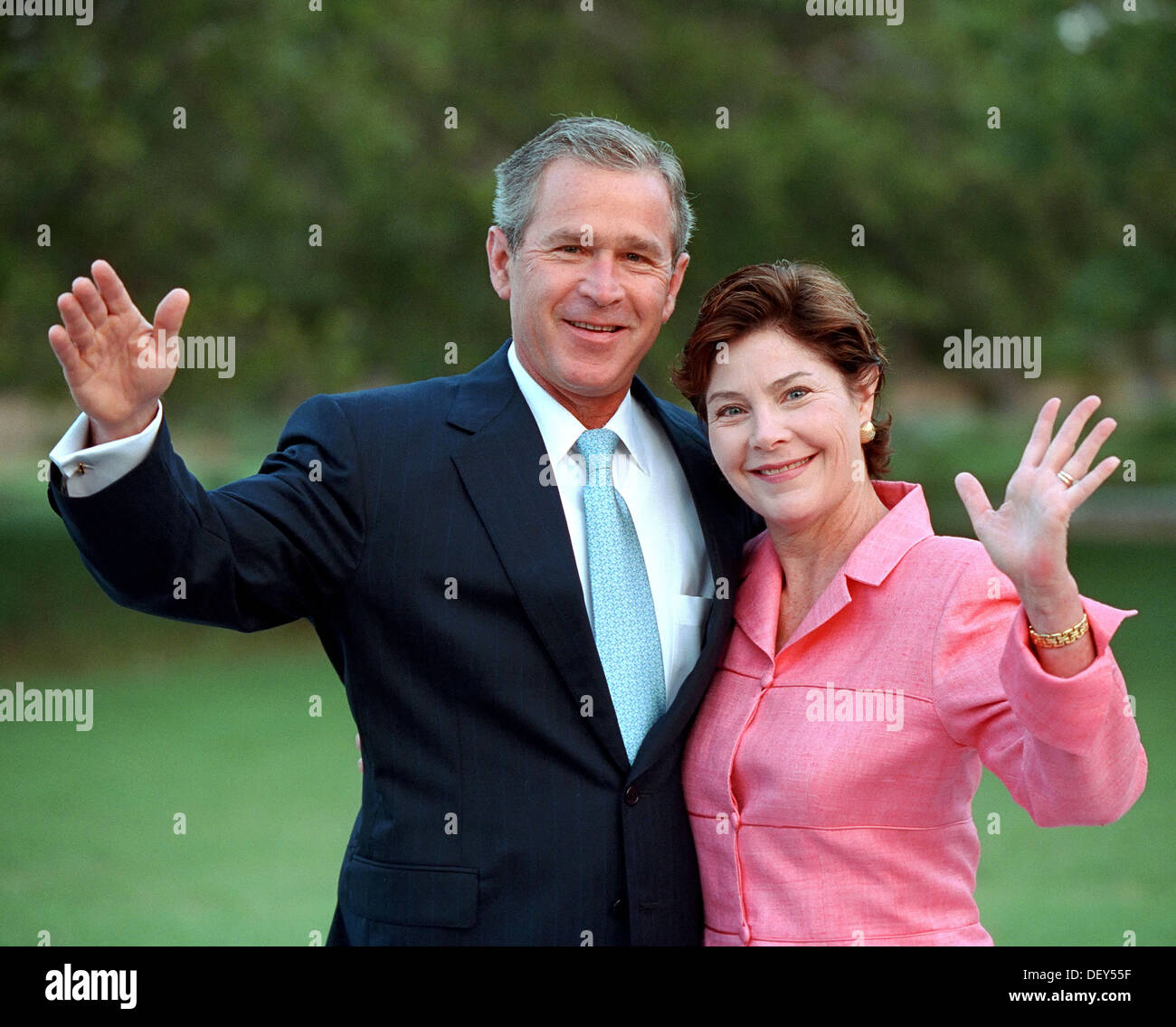Think, that George w and laura bush