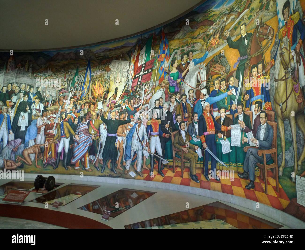 Castillo de chapultepec mural paintings ciudad de m xico for Mural en francais