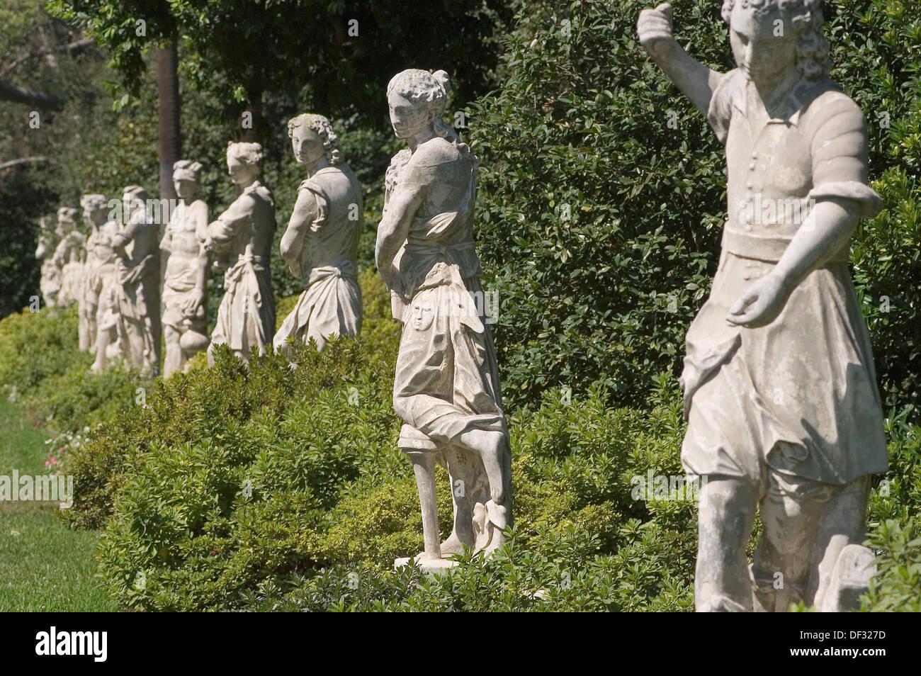 Statues In The Huntington Library Gardens San Marino