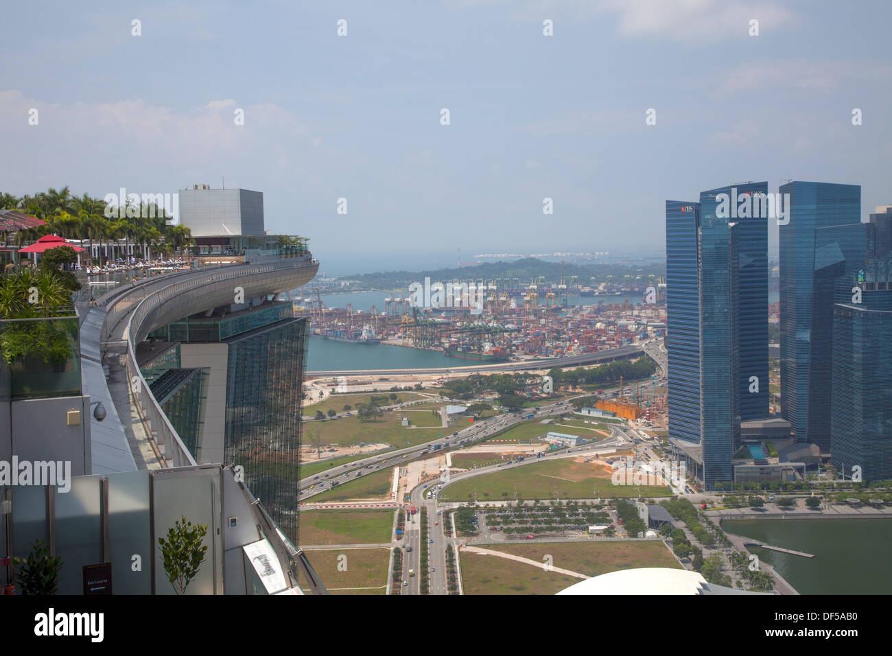 Marina Bay Sands Hotel Roof Pool Singapore Asia Destination View Stock Photo 60968852 Alamy