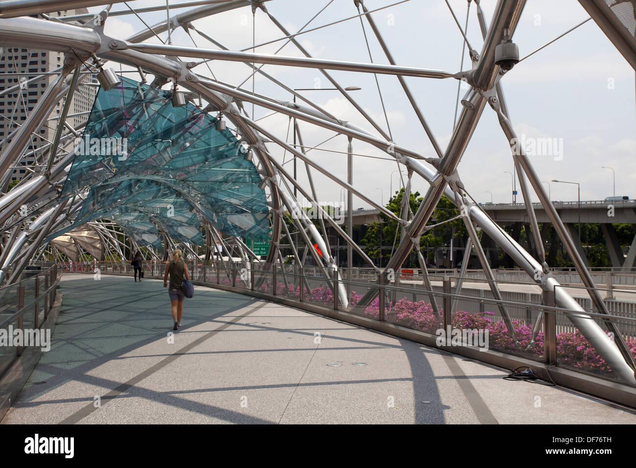 Covered Walkway Construction : Walkway marina bay sands hotel area singapore asia walking
