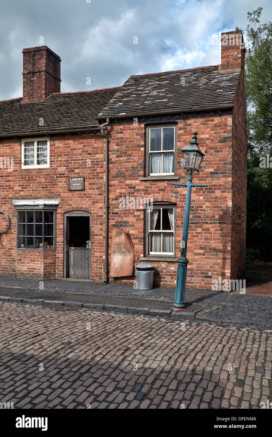 Cobbled Street And Brick Built Terraced Houses Dating Back
