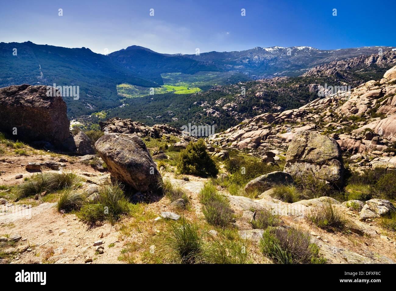 Sierra de Guadarrama Spain  city photos : Sierra De Guadarrama From La Pedriza Regional Park Cuenca Alta Del ...