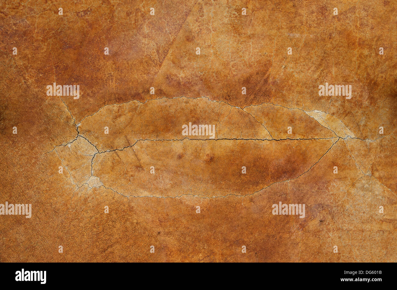 Rust Cement Wall : Cracked stained rust red concrete floor background texture