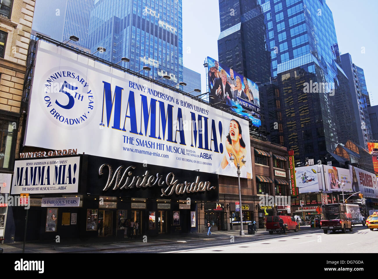 Winter Garden Theater Broadway Times Square Manhattan New York Stock Photo Royalty Free