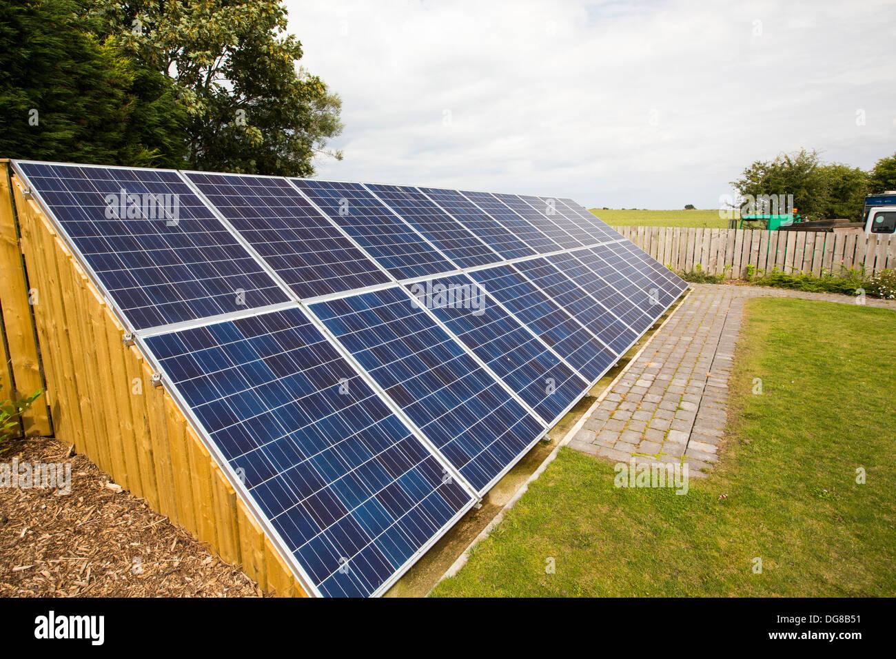 solar panels in the garden of a house near aldbrough