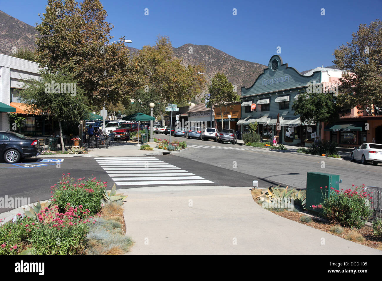 Downtown Sierra Madre, California Stock Photo