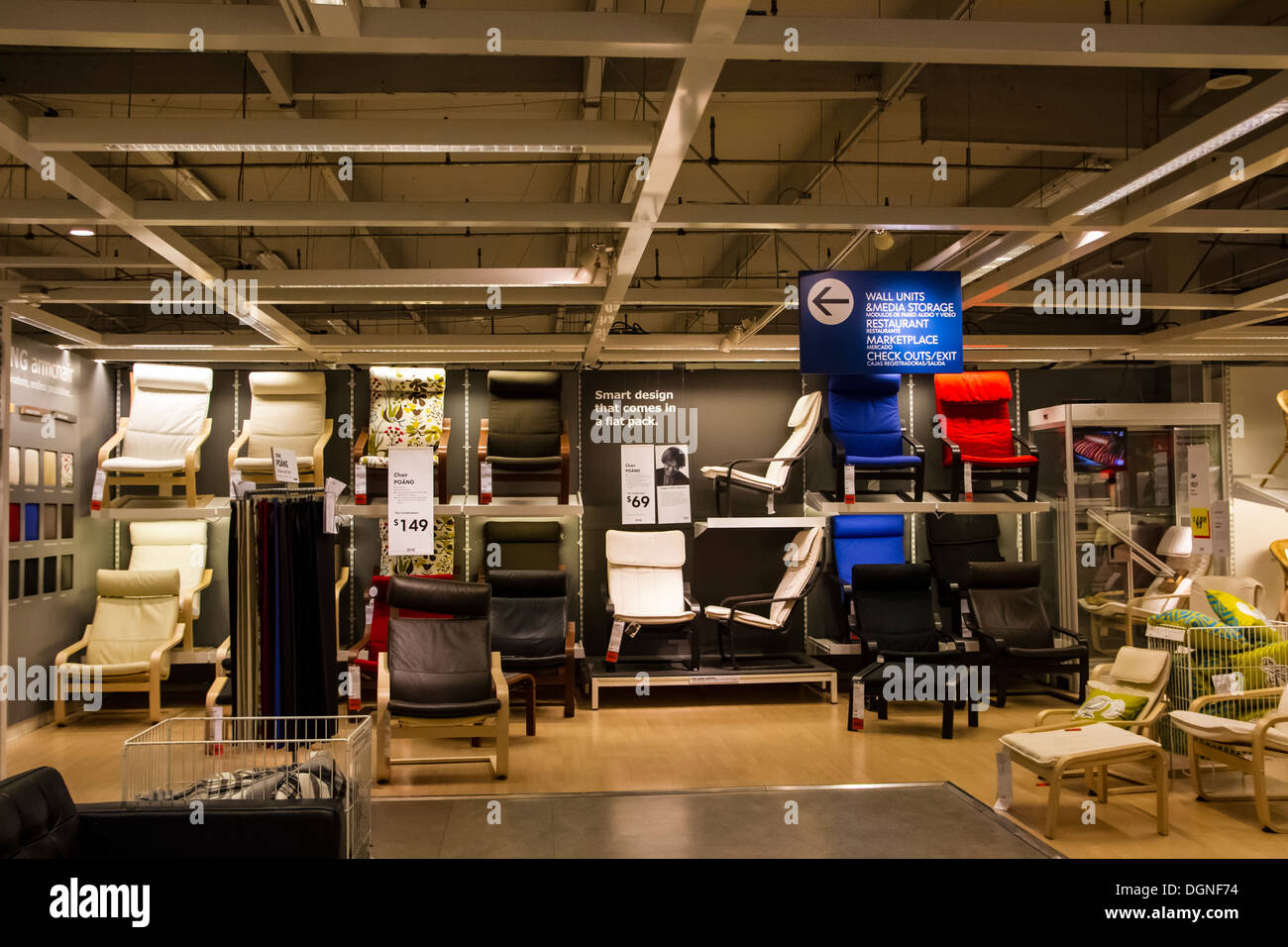 Inside the ikea store in burbank califorinia stock photo for Furniture stores in burbank