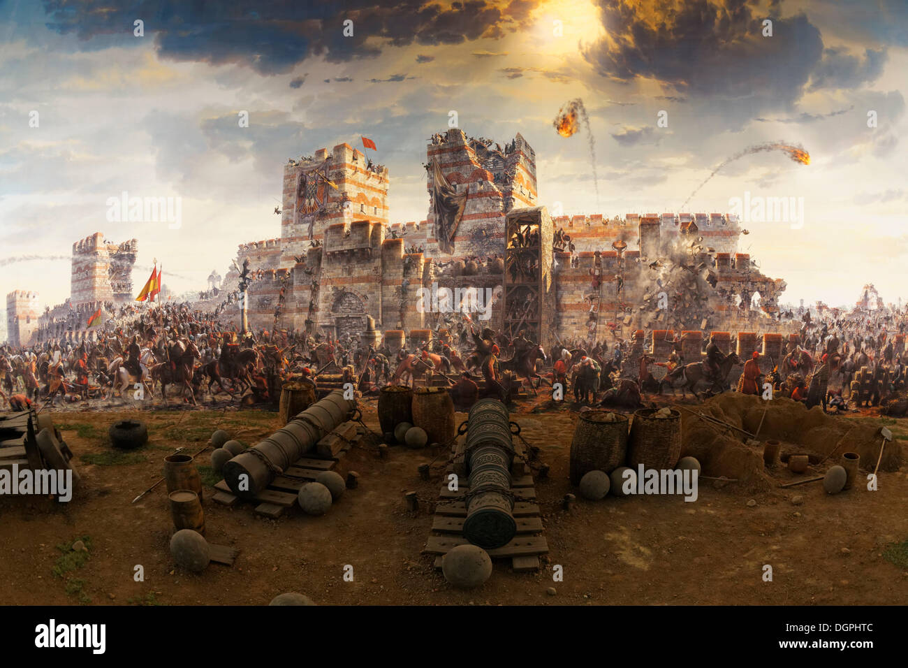 painting of the conquest of constantinople in 1453 by the ottomans stock photo 61962556 alamy