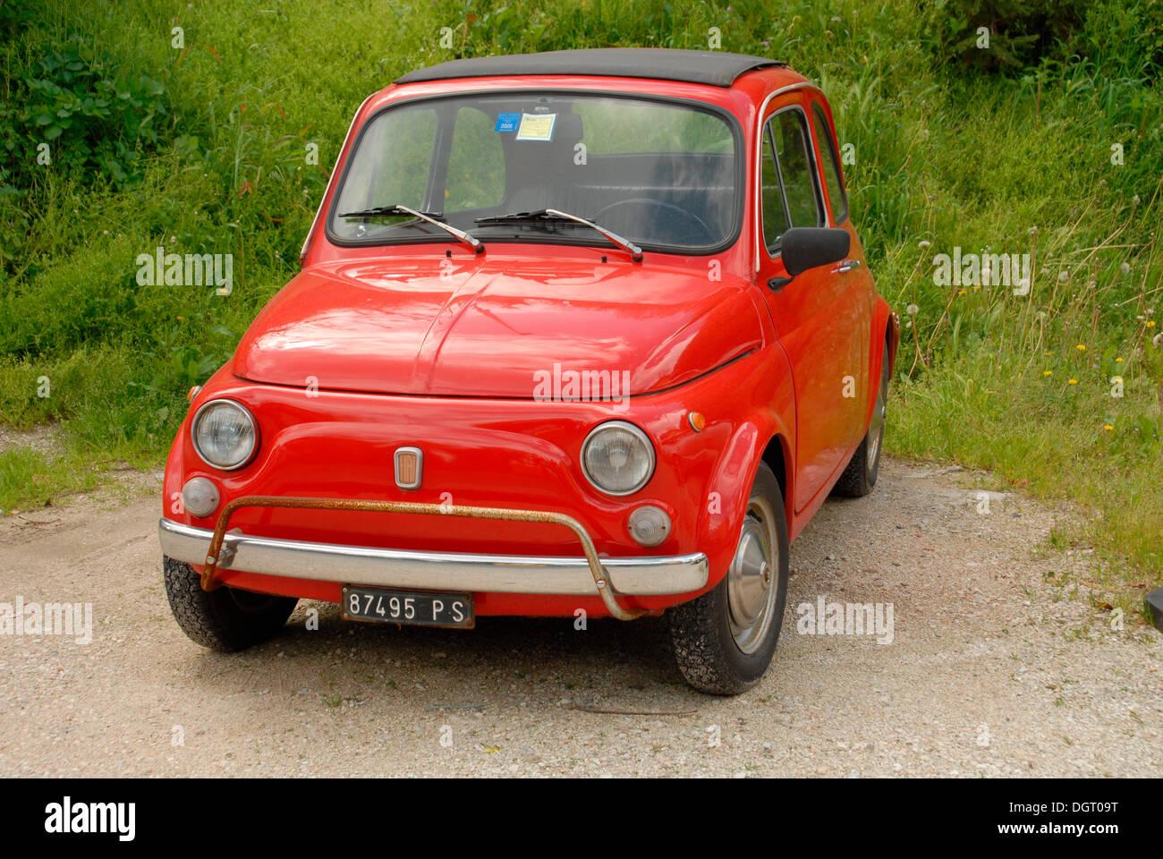 old fiat 500 classic car pesaro italy europe stock. Black Bedroom Furniture Sets. Home Design Ideas