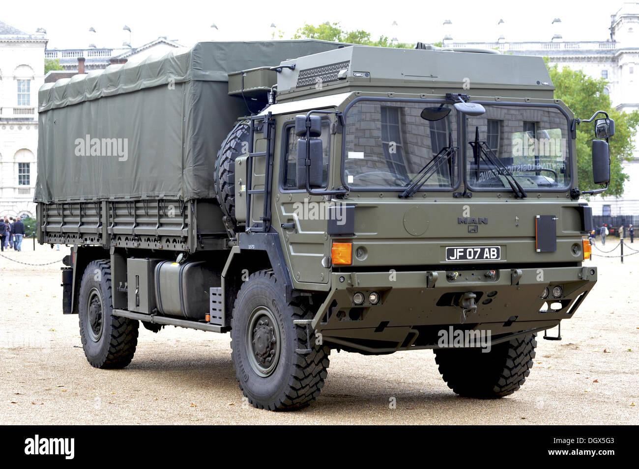 Army Heavy Duty Trucks : London uk th oct british army man hx tonne