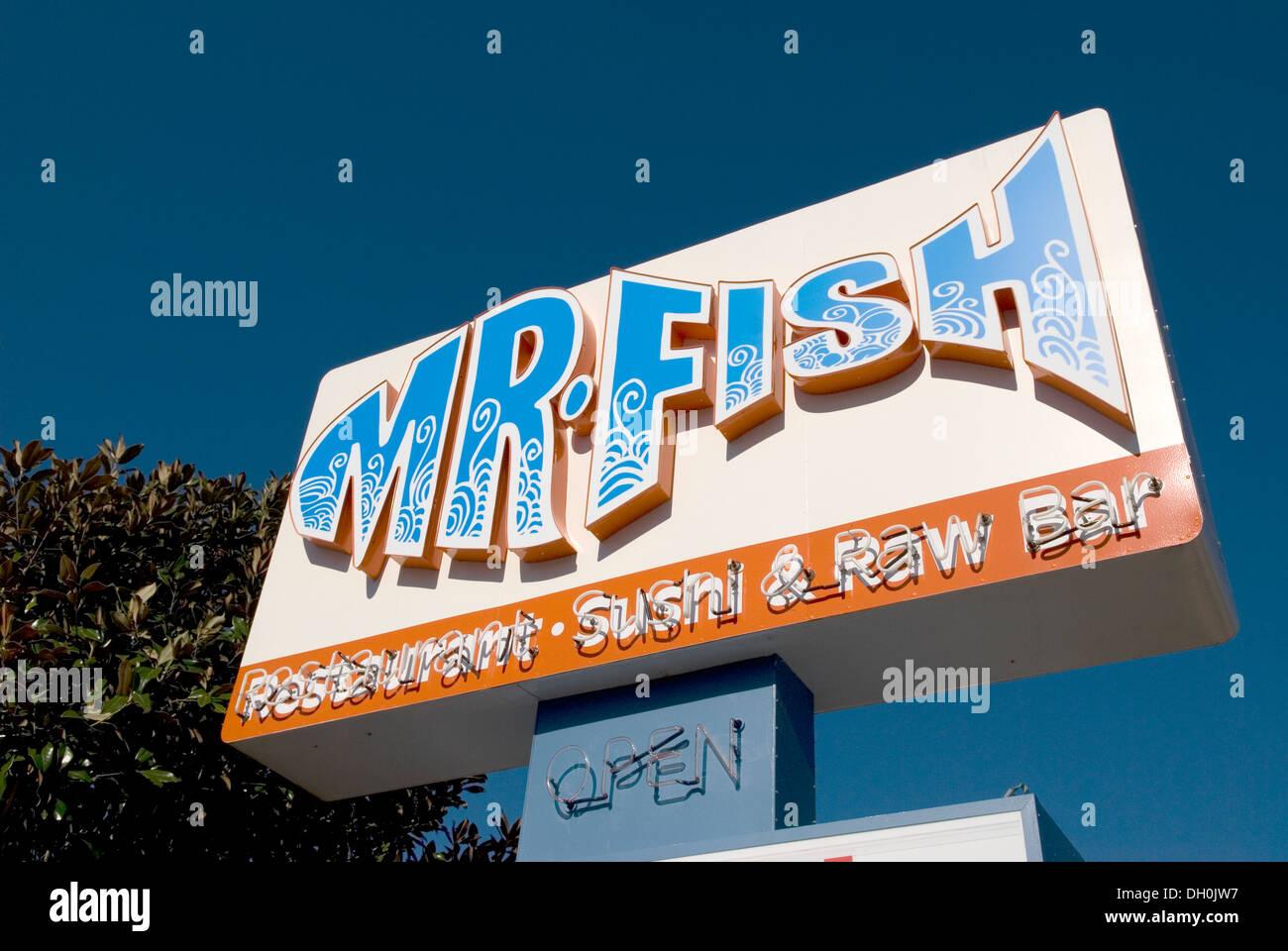 Mr fish restaurant sign myrtle beach sc stock photo for Mr fish seafood restaurant myrtle beach sc