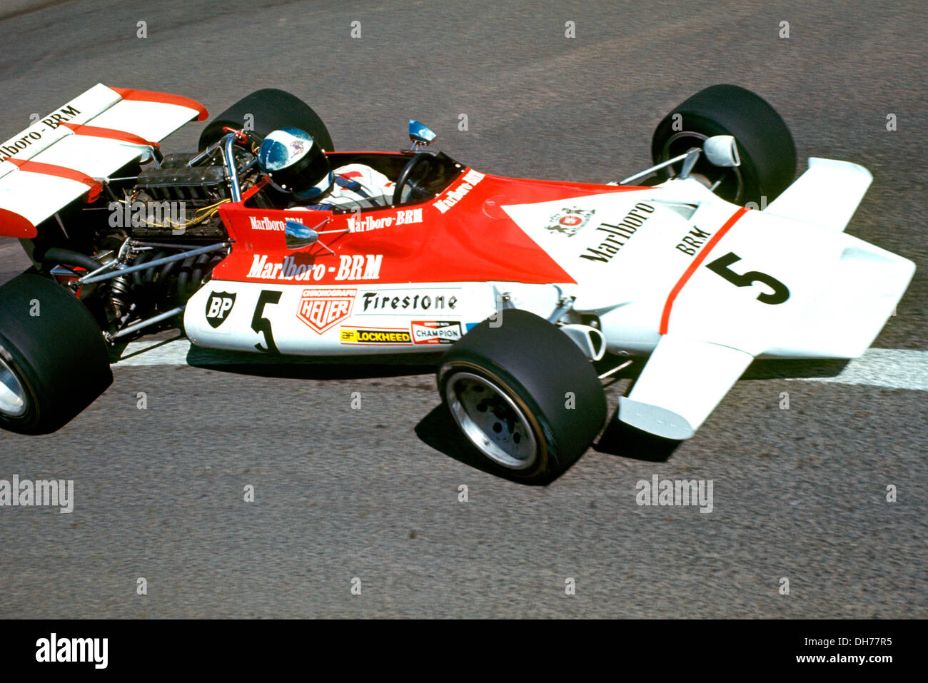 jean pierre beltoise in the brm p160b finishing 15th at the french gp stock photo royalty free. Black Bedroom Furniture Sets. Home Design Ideas