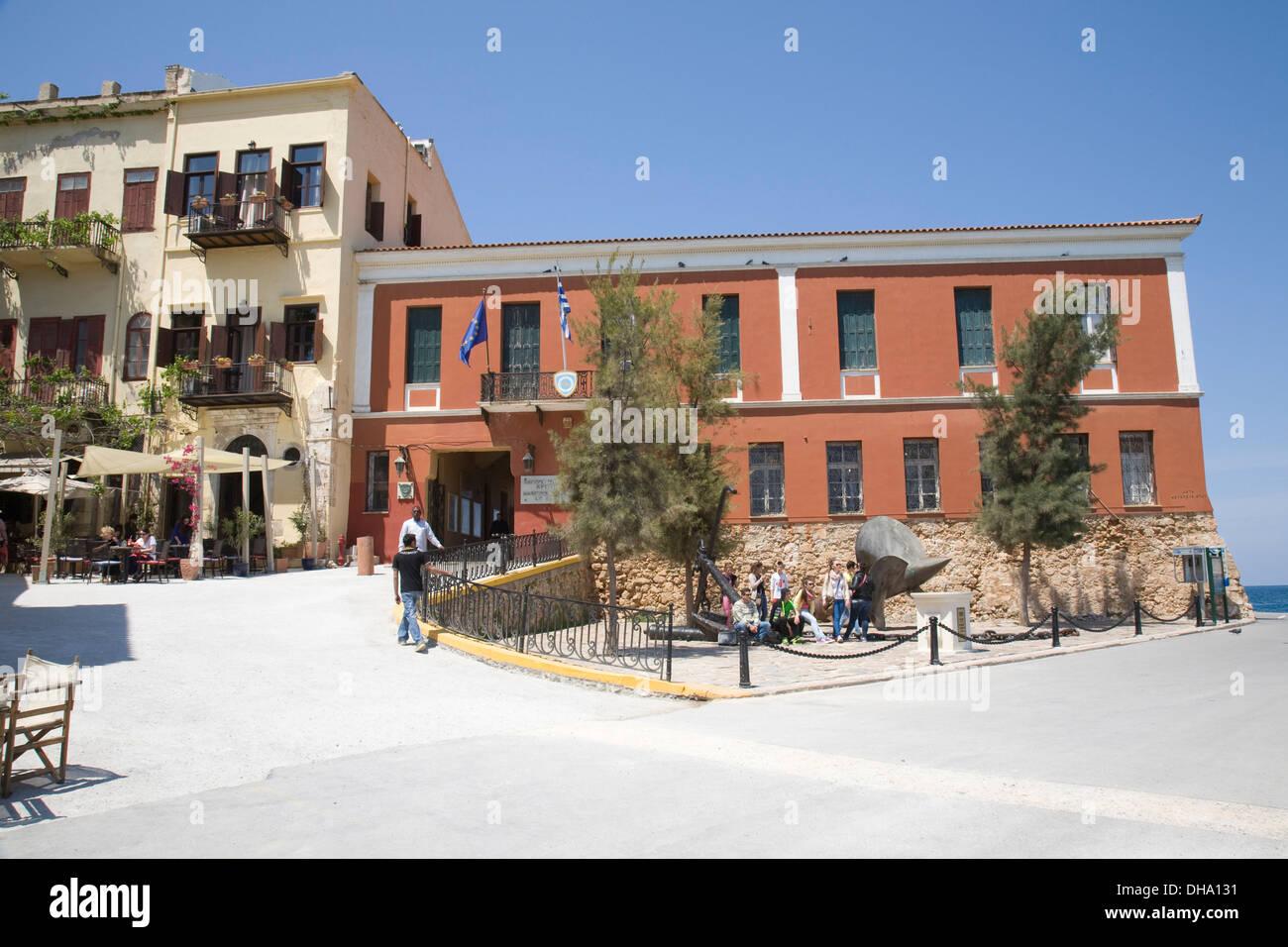 The Maritime Museum of Crete, Chania, Crete, Greece Stock ...