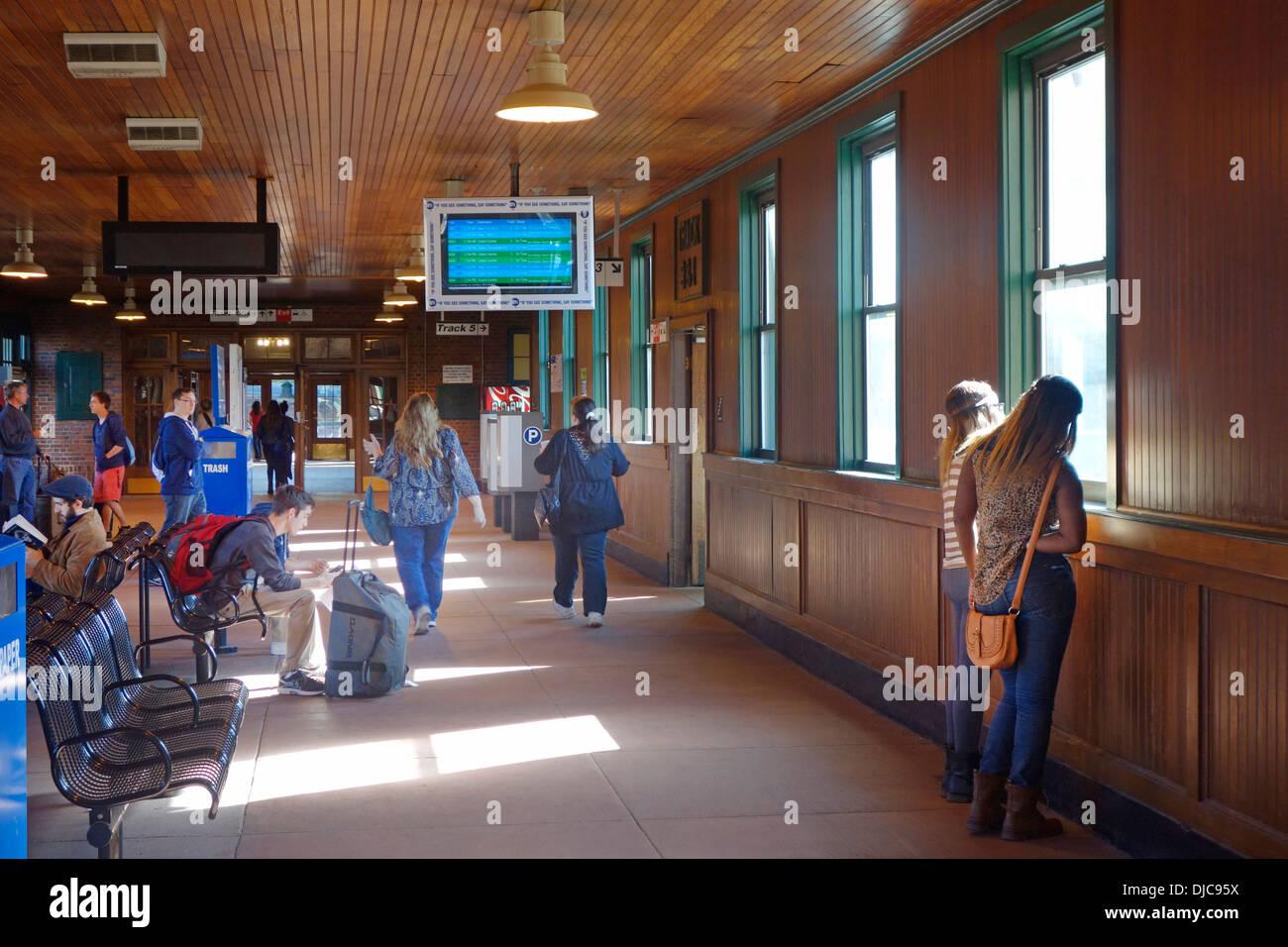 Exterior: Poughkeepsie New York Metro-North Railroad Station Stock