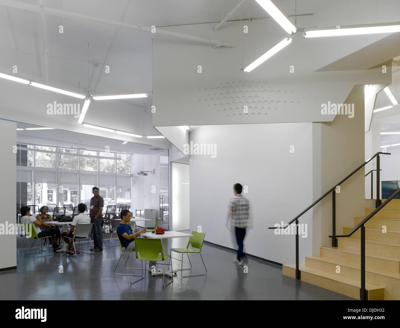 Manitoba Start, Winnipeg, Canada. Architect: 5468796 Architecture, 2013. Community room. Stock Photo