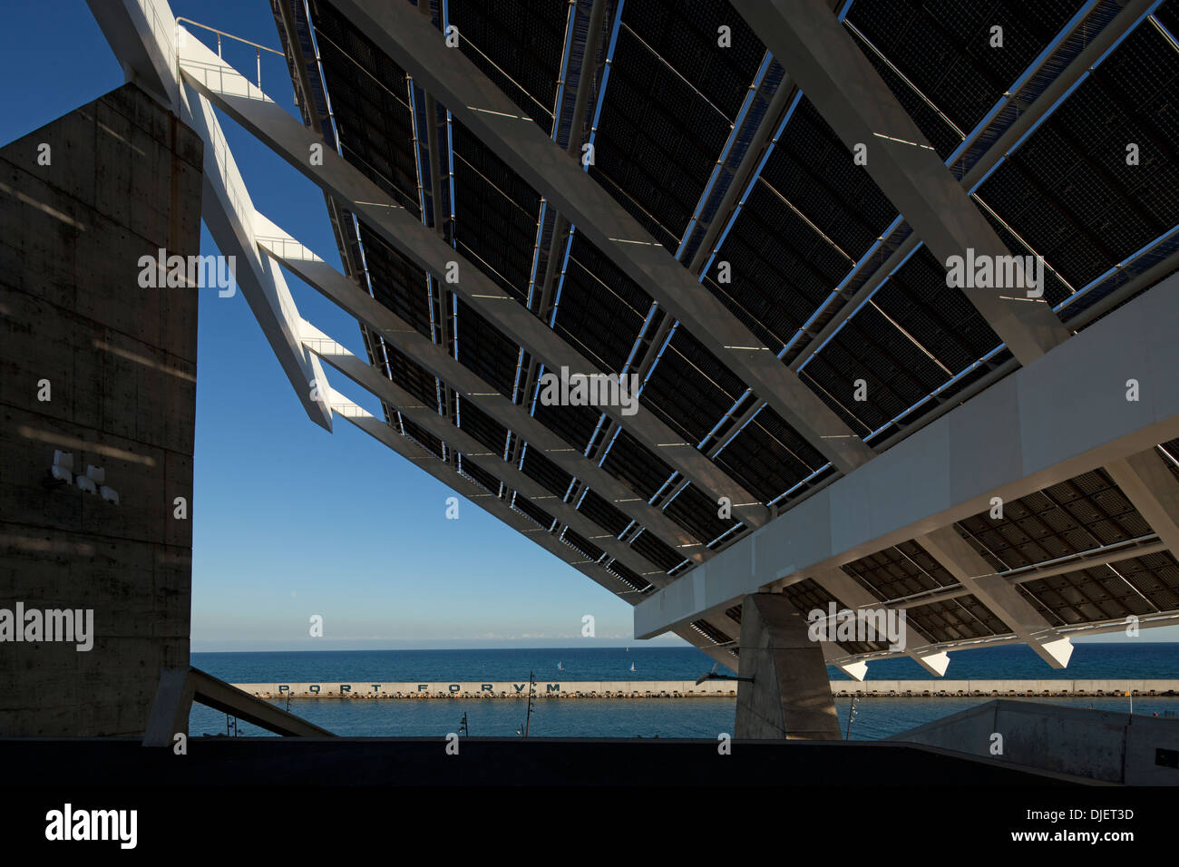 Solar panel parc del forum barcelona stock photo royalty free image 63021153 alamy - Solar barcelona ...
