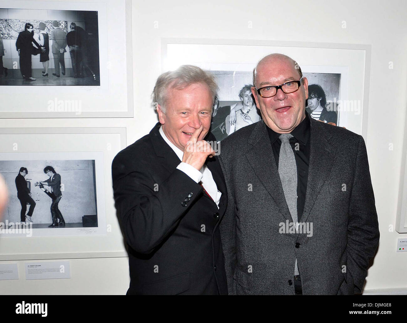 Patrick Brocklebank and U2 manager Paul McGuinness U2 Manager Paul McGuinness officially opened photography exhibition Stock Photo