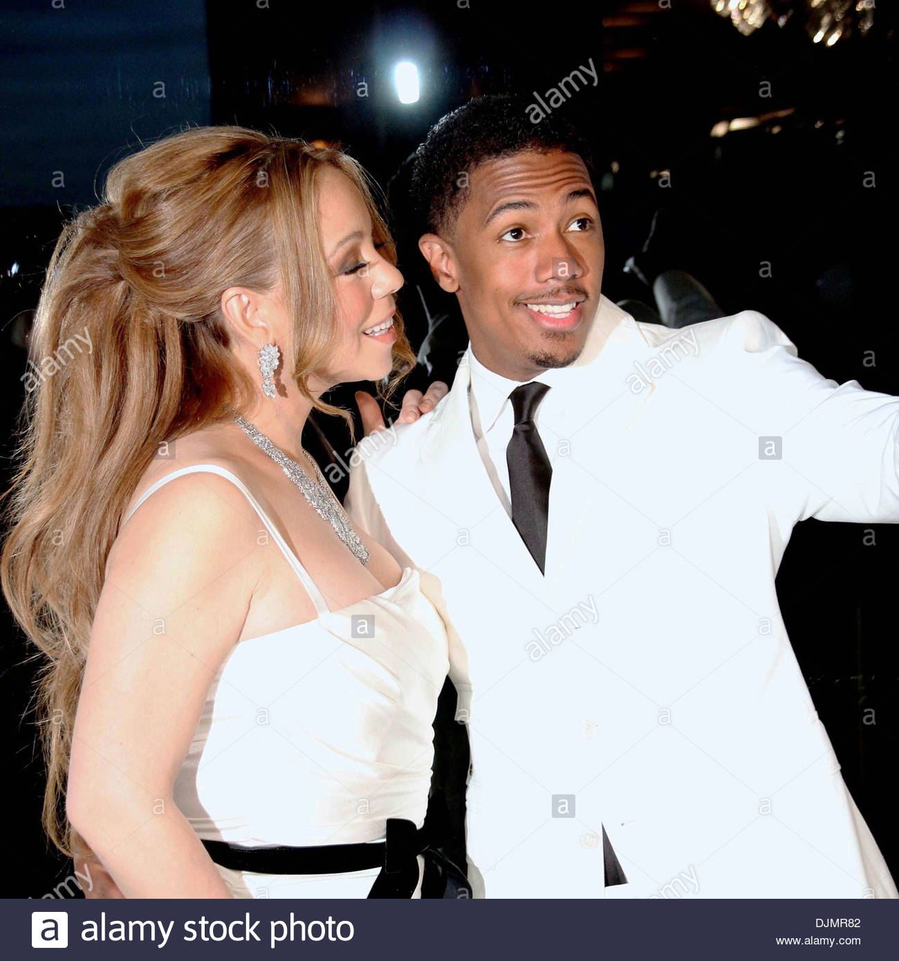 Mariah Carey and husband Nick Cannon celebrity couple celebrate their fourth anniversary of marriage Paris France Stock Foto
