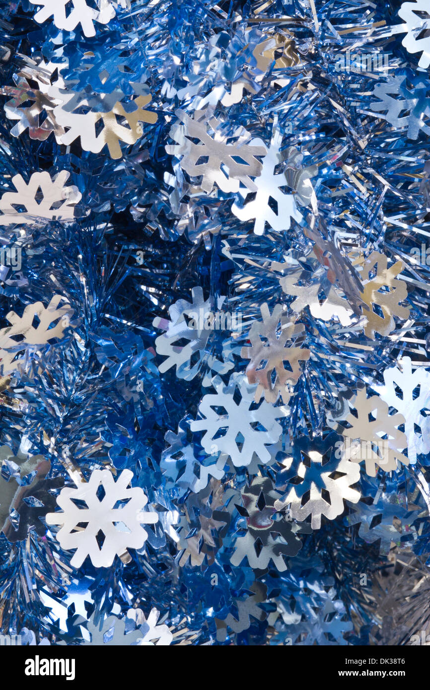 blue and silver christmas tinsel for wallpaper or