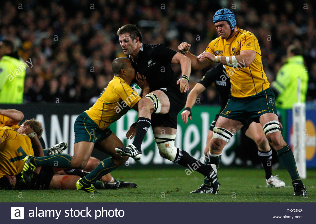 australias will genia l is tackled by new zealands