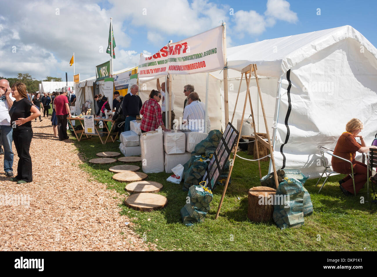 Trade Stands Hoys : Trade stands tents at agricultural show stock photo
