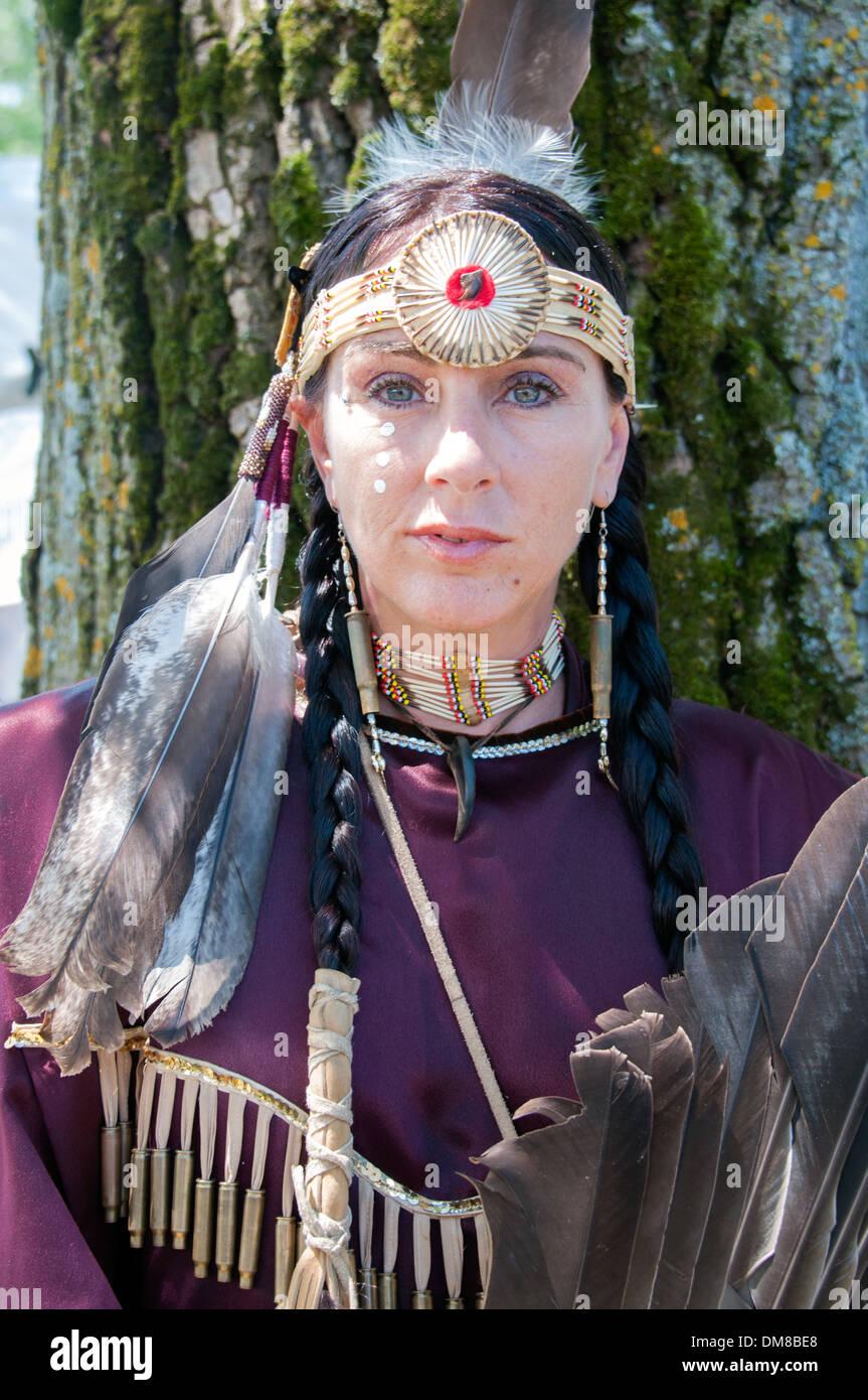 18 >> Native woman portrait Mohawk Nation in Kahnawake native community Stock Photo, Royalty Free ...