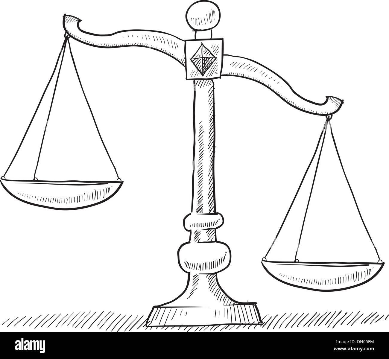 scales of justice sketch stock vector art amp illustration