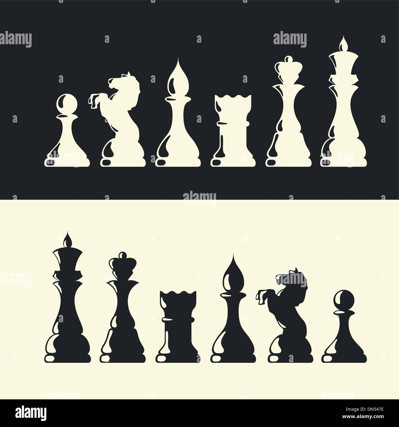 Chess pieces collection. Vector Stock-Vektorgrafik