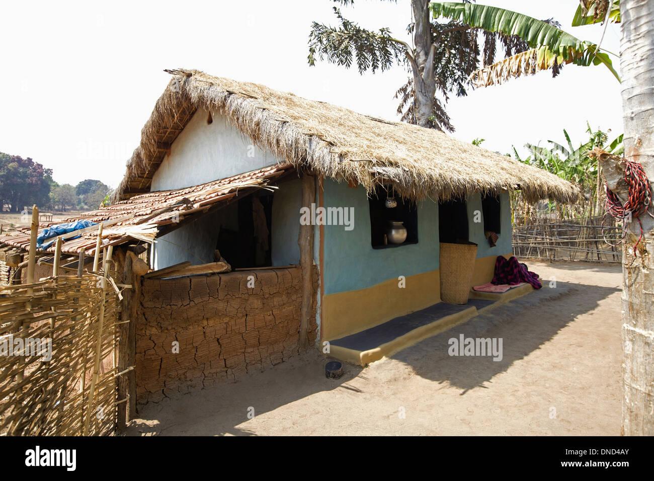 Tribal house orissa india stock photo royalty free for Tribal house