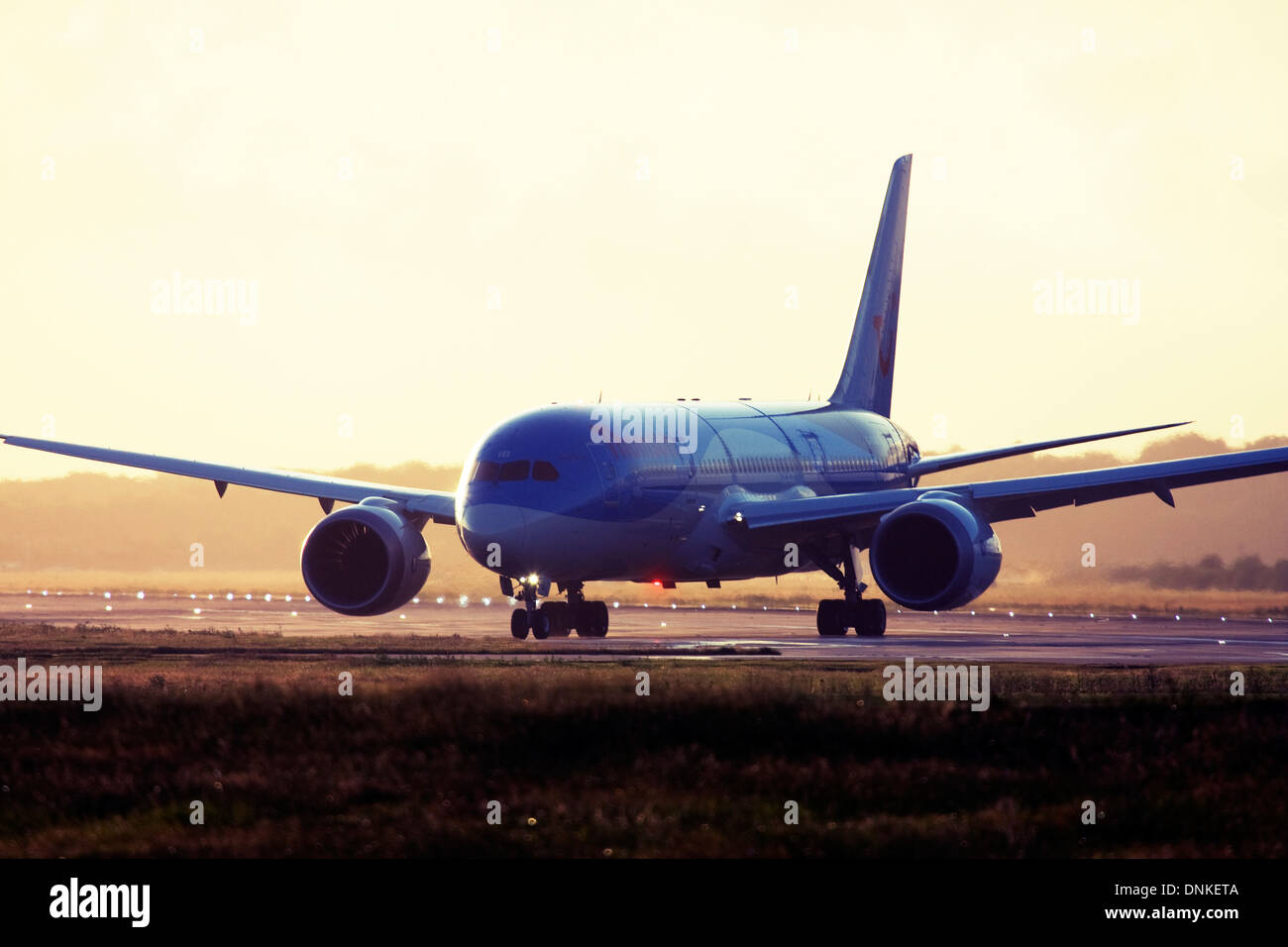 Thomson Airways Boeing 787-8 Dreamliner at London Gatwick Airport, England, UK. Stock Photo
