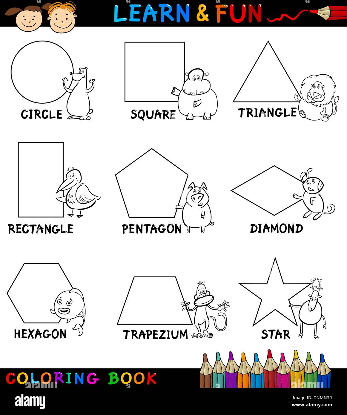 basic geometric shapes coloring pages - photo#40