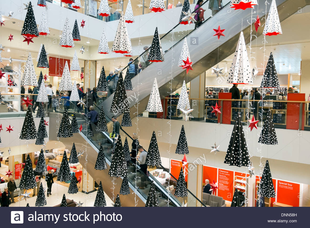 Christmas decorations in a john lewis store bristol uk for H h christmas decorations