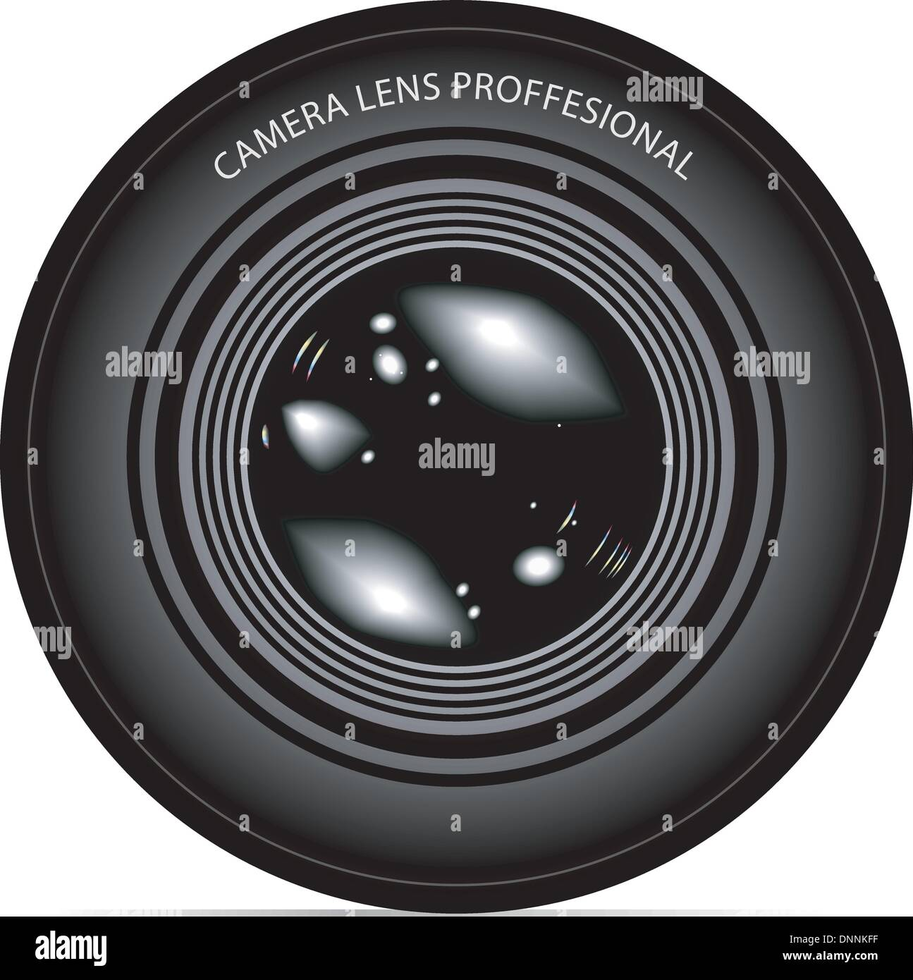camera lens vector illustration Stock-Vektorgrafik